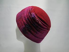 Čiapky - Plstená skladaná čiapka-červená - 10264567_