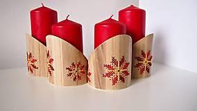 Dekorácie - Stojan na sviečky červeno žltý kvet - 10264617_