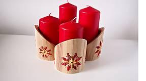 Dekorácie - Stojan na sviečky červeno žltý kvet - 10264619_