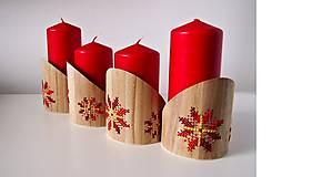 Dekorácie - Stojan na sviečky červeno žltý kvet - 10264621_