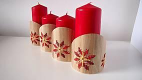 Dekorácie - Stojan na sviečky červeno žltý kvet - 10264622_