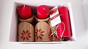 Dekorácie - Stojan na sviečky červeno žltý kvet - 10264623_