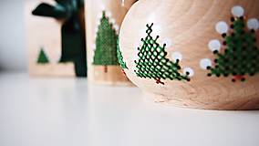 Dekorácie - Sada Vianočná stromčeky - 10264701_