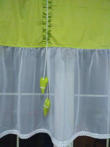 Úžitkový textil - Záclonka  zelená - 10264427_