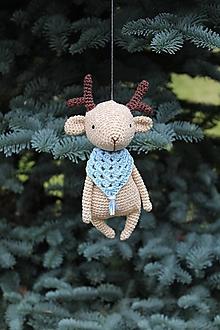Hračky - Jelenček ako zimné zvieratko - 10263973_