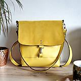 Batohy - Kožený batoh Lara (žltý) - nedostupný - 10263204_