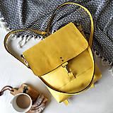 Batohy - Kožený batoh Lara (žltý) - nedostupný - 10263205_
