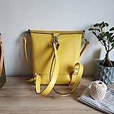 Batohy - Kožený batoh Lara (žltý) - nedostupný - 10263217_
