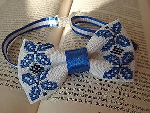 Iné oblečenie - Motýlik Modrý štvorlístok - 10264260_