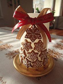 Svietidlá a sviečky - Svieca Vianočné kúzlo - 10264327_