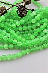Minerály - jadeit smaragd korálky 10mm - 10264495_