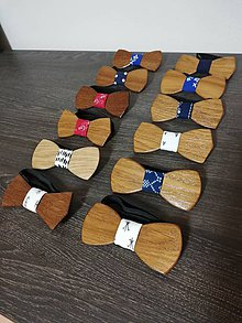 Doplnky - Pánsky drevený motýlik - 10264484_