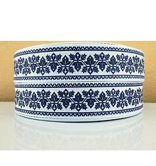 Galantéria - Stuha rypsová š.25 mm- modrá - 10264547_