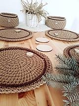 Úžitkový textil - Prestieranie Scandinavia karamelové - 10262927_