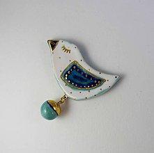 Odznaky/Brošne - Tana šperky - keramika/zlato - 10263357_