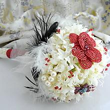 Kytice pre nevestu - Luxury pomegranate bouquet - 10263759_