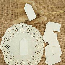 Papier - VI101 Visačka obdĺžnik 5 x 3 cm (Biela) - 10262904_