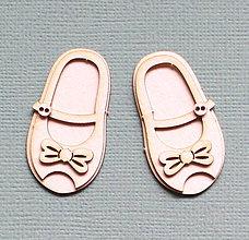 Polotovary - Výrez z lepenky 2D - detske topánočky - 10262997_