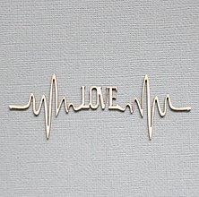 Polotovary - Výrez z lepenky - LOVE - 10263001_