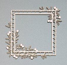 Polotovary - Výrez z lepenky - rámik Spruce Christmas - 10263090_