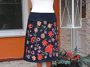 Sukne - Zimná sukňa+darček-šálik - 10263155_