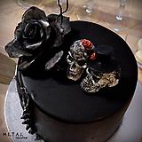 Dekorácie - Lebky/nevesta a ženích - figúrky na svadobnú tortu - 10264124_