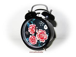 Hodiny - Čierny BUDÍK RUŽE ♥ - 10262839_