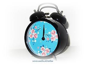 Hodiny - Romantický budík KVETY ♥ - 10262844_