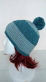 Čiapky - Dámska aj pánska vlnená čiapka s brmbolcom v.56-58cm - 10264220_