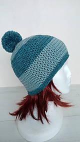 Čiapky - Dámska aj pánska vlnená čiapka s brmbolcom v.56-58cm - 10264225_