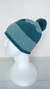 Čiapky - Dámska aj pánska vlnená čiapka s brmbolcom v.56-58cm - 10264226_