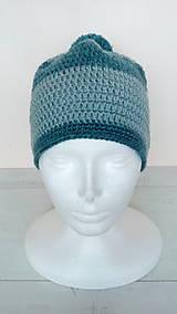 Čiapky - Dámska aj pánska vlnená čiapka s brmbolcom v.56-58cm - 10264228_