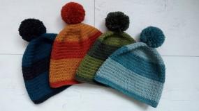 Čiapky - Dámska aj pánska vlnená čiapka s brmbolcom v.56-58cm - 10264232_