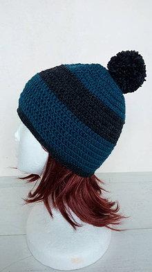Čiapky - Pánska vlnená čiapka s brmbolcom v.54-56cm - 10264174_