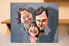 Obrazy - Karikatúra podľa fotky (Maľované na plátne (farebne, 1 tvár)) - 10264525_