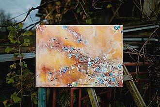 Obrazy - V modrom šate,vo vanku - 10263922_