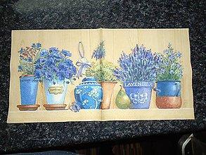 Papier - levanduľa v kvetináčikoch - 10263321_