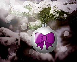 Grafika - Vianočná guľa (grafický obrázok) - mašlička - 10263360_