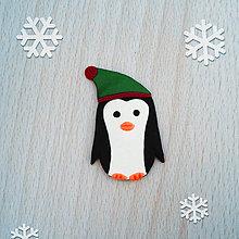 Magnetky - Magnetka tučniak v čiapke 1 - 10264261_