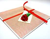 Papiernictvo - Pohľadnica ... Si ako ruža II - 10265939_