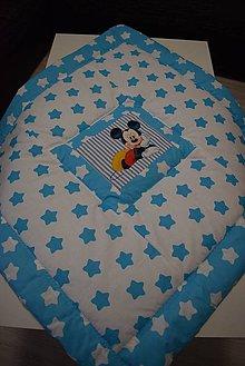 Textil - DĚTSKÁ PATCHWORKOVÁ DEKA..modrá - 10264842_