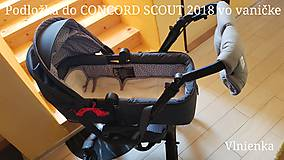 Detské doplnky - Podložka do kočíka CONCORD 100% merino /celoročná/ obojstranná Hviezda šedá - 10265121_