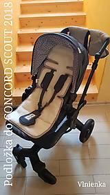 Detské doplnky - Podložka do kočíka CONCORD 100% merino /celoročná/ obojstranná Hviezda šedá - 10265122_