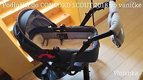 Detské doplnky - Podložka do kočíka CONCORD 100% merino /celoročná/ obojstranná Hviezdička šedá - 10265714_