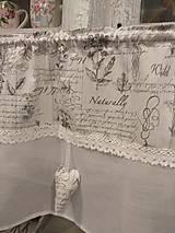 Úžitkový textil - Vitrážková záclonka vintage - 10265960_
