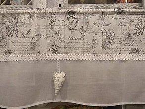 Úžitkový textil - Vitrážková záclonka vintage - 10265956_