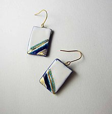 Náušnice - Tana šperky - keramika/zlato - 10264857_