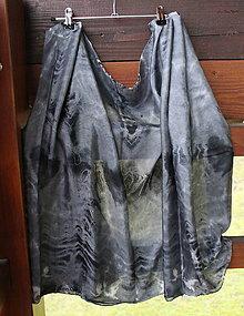 Šatky - Pareo_silk scarf_hodvábna šatka_black_čierna - 10265801_