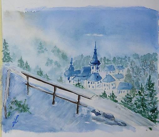 Obrazy - biela zima, ráno - 10265450_