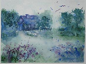 Obrazy - chalúpka v hmle - 10265128_